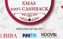 Xmas christmas  percent cashback