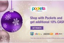 pockets get  cashback on shop