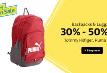 Flipkart Fashion Sale bags offers