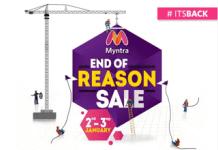 Myntra end of the reason sale