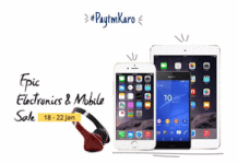 Paytm Epic Electronics and mobiles sale jan