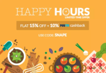 Peppertap Happy Hours Buy Groceries at flat  off
