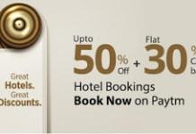 paytm hotel bookings loot offer