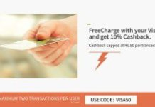 freecharge per cb all visa cards loot