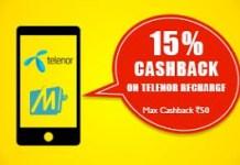mobikwik telenor loot  cashback offer