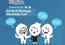 Ruplee app rs recharge free loot abhiyou