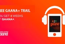 gaana  days free trail offer