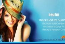 paytm summer special deals offers upto  cashback