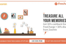 zoomin freecharge  off  cashback offer