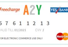 Freecharge mastercard yesbank