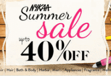 Nykaa summer anniversary sale offer