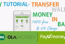 ay tutorial transfer ola payunmoney wallet money in bank