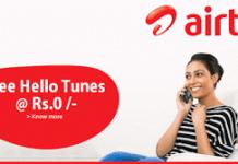 airtel free hello tunes service for  days
