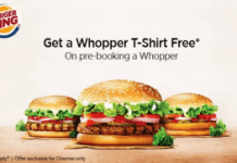 burger king get t shirt free with whopper burger chennai loot