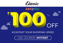 elanic app loot offer rs off