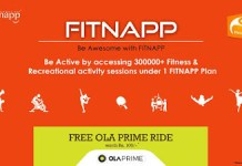 fitnapp free ola prime ride worth rs