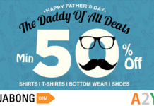 jabong fathers day special deal