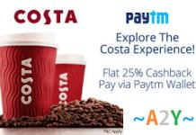 paytm coffee costa  cashback offer