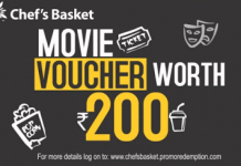 snapdeal chefsbasket loot offer freebms voucher worth rs