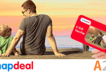 snapdeal fathers day gift card rs off