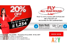 air asia sbi bank loot offer