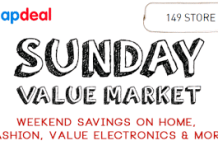 Snapdeal sunday value market latest january