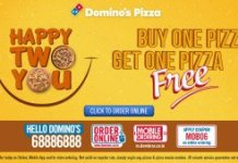 dominos bogo offer wednessday happ two you deal