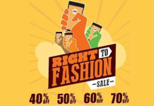 myntra right to fashion sale