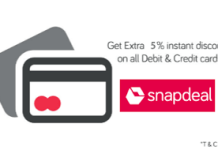 snapdeal  off all bank cards