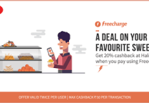 freecharge haldirams  cashback offer