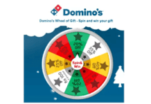 Domino spin win