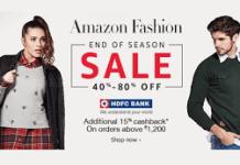 amazon fashion   hdfc bank