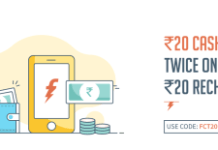 freecharge get Rs  cashback on Rs  recharge  times all users