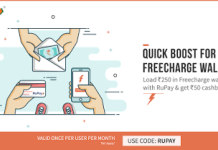 freecharge rupay add money