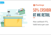 MK retails freecharge