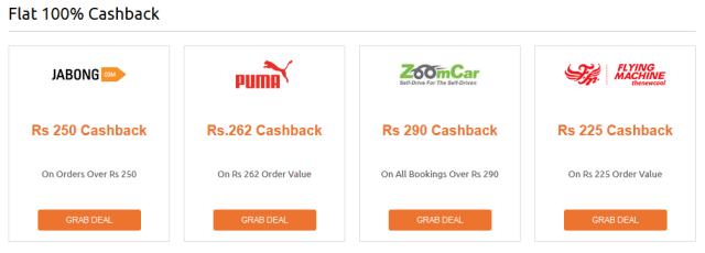 Get Flat 100% Cashback Deals from Cashkaro - [Redeem to Bank]