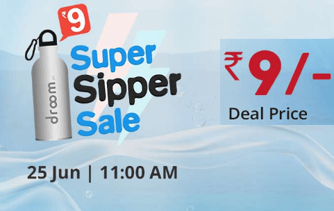 Droom Sale- Buy Super Sipper Bottle at Rs 29 only (11AM, 21st Nov