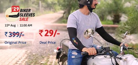 Buy Droom Biker Sleeves at Rs 29 only (Flash Sale)
