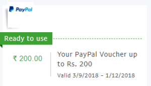 Cashback offer Proof PayPal