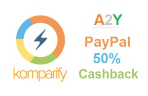 Komparify- Flat 50% Cashback on Recharges via PayPal