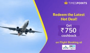 times points free paytm flight coupon