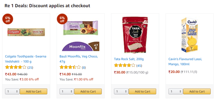 Buy Pantry Products at Rs 1