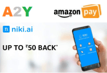 Niki Amazon Cashback Offers