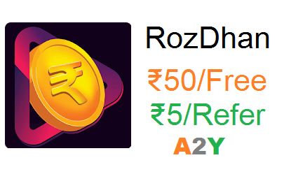 RozDhan App Refer Code