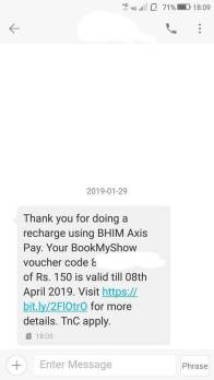 Free Rs150 BookMyShow Voucher