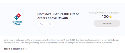 TimesPoints Dominos Voucher