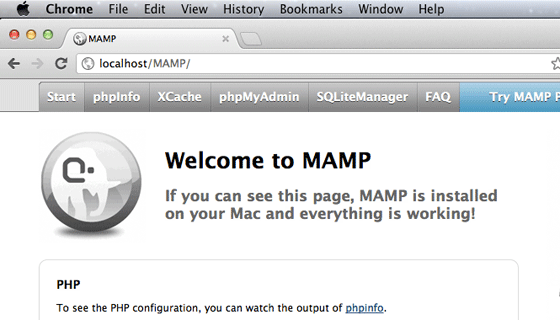 Setting Apache to use Port 80 in MAMP