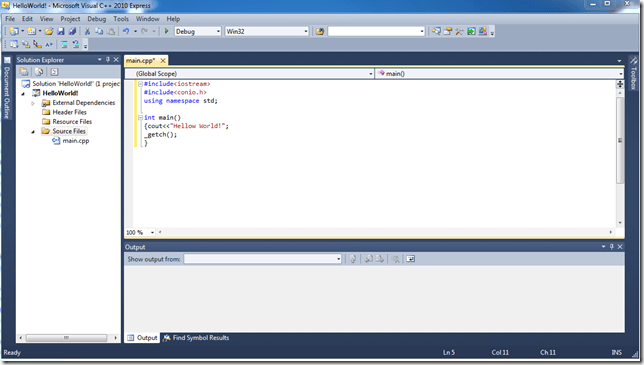 "Create Your program. Here is Simple code to display ""hello Word!"""