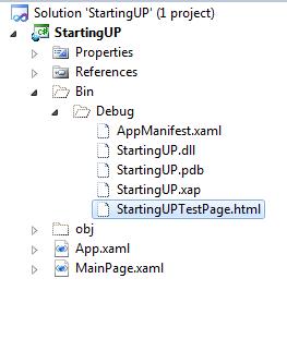 Silverlight App Bin folder