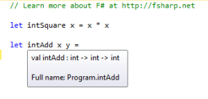 int Add Function F#